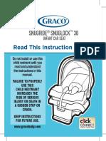 manual autoasiento  snugride 30
