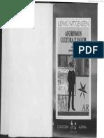 Cultura y valor - Ludwig Wittgenstein.pdf