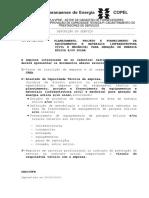 900102004 - Planejamento, Projeto E Fornecimento de Equipamentos e Materiais (Infraestrutura Civil e Mecânica) Para Geração de Energia Eólica Eou Solar