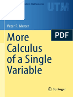 Mercer P_More Calculus for a Single Variable