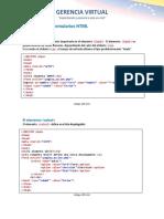 Elementos de Formulario HTML