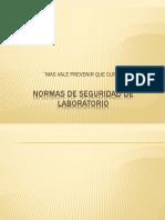 Normas de Seguridad de Laboratorio