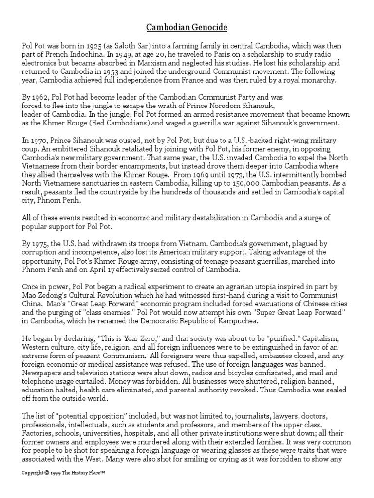 Pol pot genocide thesis wordpress thesis slideshow