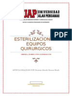 Articulo de la esterilización de equipos quirurgicos