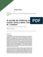 A Escrita Da Violência Em Mia Couto, Sony Labou Tansi e J. M. C