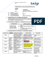 6. Formulación y Evaluación de Proyectos
