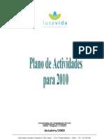 Lusavida - Plano de Actividades Para 2010