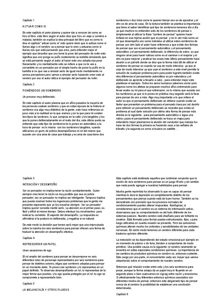 Resumen - Seis Sombreros Para Pensar 61b447f86b2