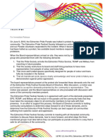 June 9 Edmonton Pride Festival statement