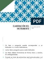 Elaboración Del Instrumento