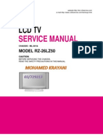 Lg Rz-26lz50 Ml-041a Lcd Tv Service Manual