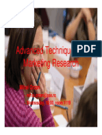 Advanced Techniques for Marketing Research (1)
