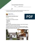 housing market worksheet