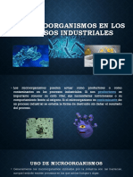 Los Microorganismos en Los Procesos Industriales