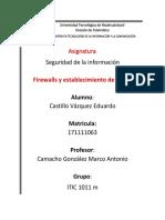 Firewall y Reglas - Castillo Vazquez Eduardo