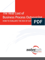2013-10--07-Avadyne Health Real Cost of Business Process Outsourcing