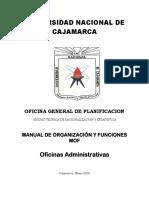 MOF UNC Oficinas Administrativas