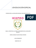 """SÍNTESIS DE LA LECTURA """"ANTECEDENTES DE LA EDUCACIÓN ESPECIAL"""""""