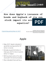 Apple Bond Issue and Stock Buyback Pptx