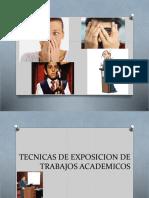 Tecnicas Exposicion de Trabajos Academicos