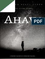 Ahava, il Sacrificio Scrittore e autore Jonathan Azael Cerda Aj Adams Brand Edizione in italiano