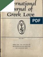 International Journal of Greek Love, Vol. 1, No. 2