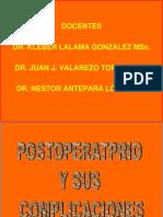 1.3 Postoperatorio y Sus Complicaciones