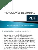 Reacciones de Aminas