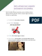 Expresiones Latinas Que Usamos Frecuentemente en Español Final
