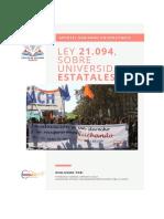 Resumen elementos Gobierno Universitario, Ley 21.094 Sobre Universidades Estatales