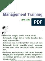 manajemen training