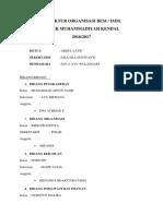 Struktur Organisasi Bem 2016-2017