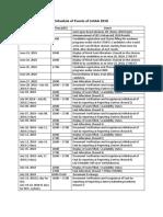 JoSAA2018 Schedule