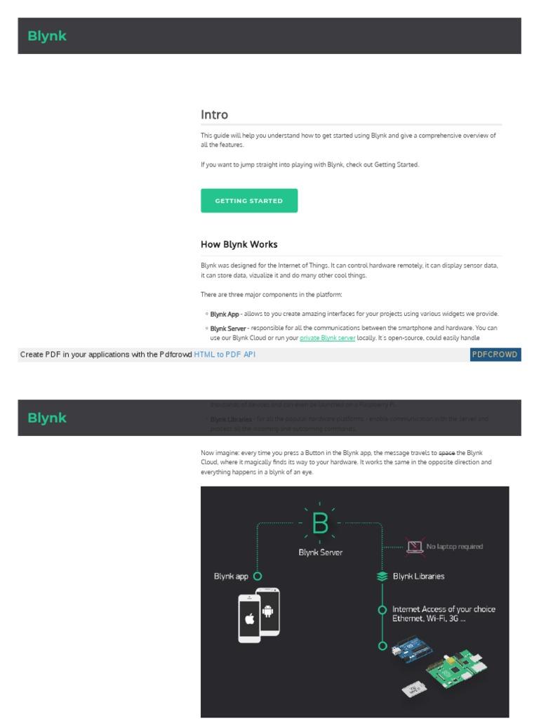 Docs Blynk Cc Blynk Server | Application Software | Arduino