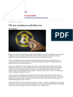 FDI and Remittance With Bitcoins