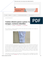 Camisa Clássica Passo a Passo_ Carcela, Mangas, Costuras Rebatidas _ Renata Perito
