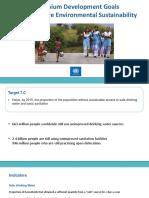 Millenium Development Goal 7 C