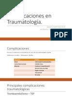 Complicaciones Traumatología Ignacio Martínez