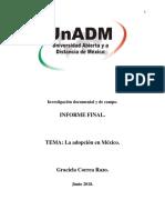 Unidad 3, Sesión 8, Actividad 1. Integración y redacción del informe final.