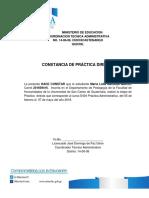 Constancias de Asistencia, Diagnostico y p