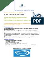 2 de AGOSTO -BAÍA DE S.M.P.- CAMPANHA BANDEIRA AZUL