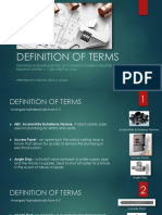 Plumbing Definition of Terms