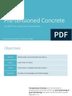 Pre-tensioned Concrete