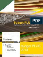 Budget PLUS 2013