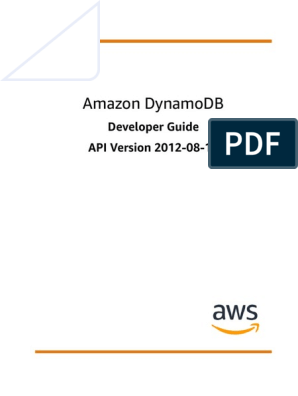 Dynamodb Dg | Database Index | Amazon Web Services