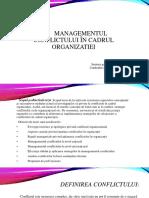 Managementul Conflictului În Cadrul Organizatiei Prezentare