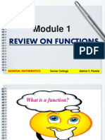 Module 1 Review on Functions