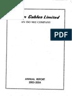 Delton Cables Ltd Annual Report
