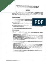Emgee Cables & Communications Ltd AR