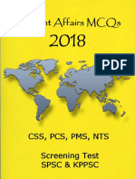 Current Affairs 2018 Mcqs Pcs - Spsc and Kppsc